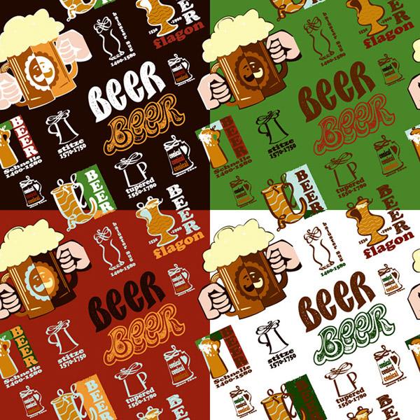 Beer poster elements background vector