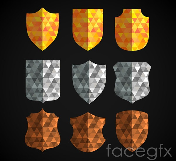 Creative shield design vector