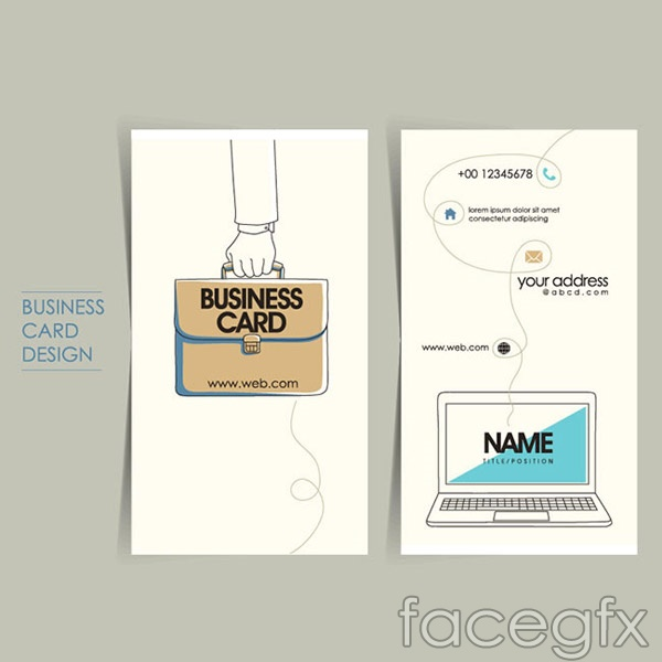 Flat icon cards vector