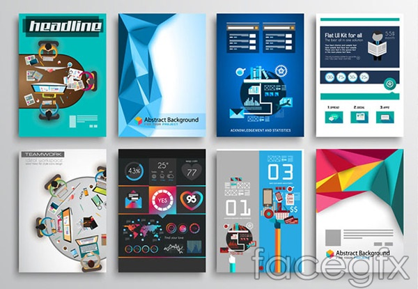 Flat minimalist posters vector