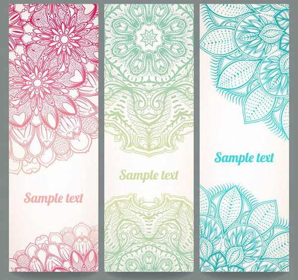 Hand-painted pattern screen pattern vector