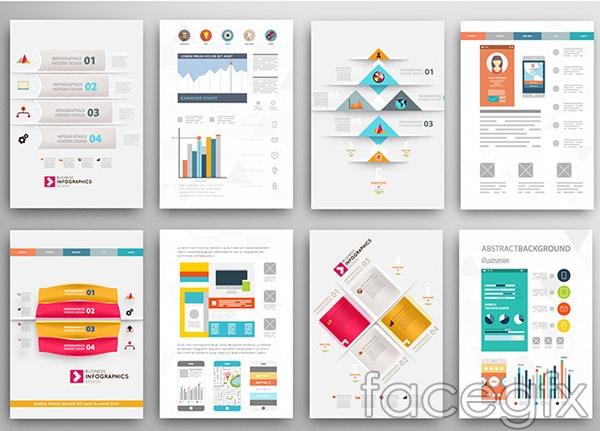 Chart brochure vector