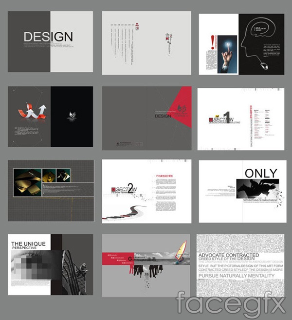 Design company brochure vector | Free download