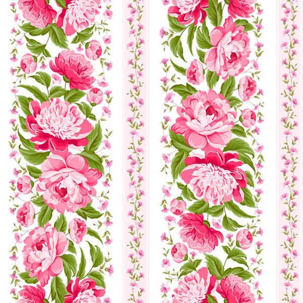Peonies and lace vector