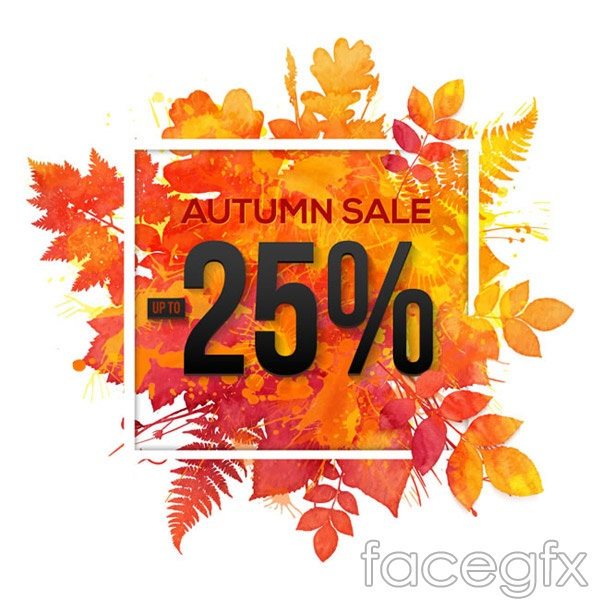 Autumn leaf color discount posters vector