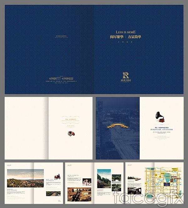 Book real estate book vector