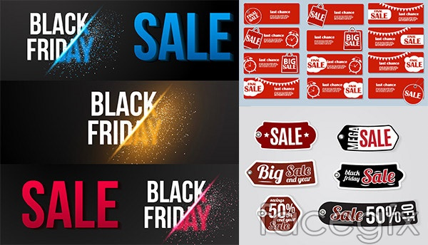 Fashion promotional banners vector
