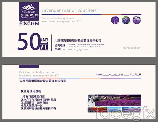 Ticket vouchers vector