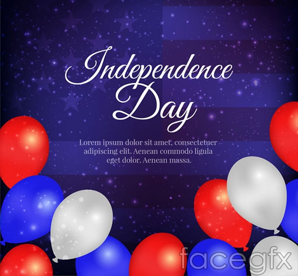 United States independence day greeting cards vector