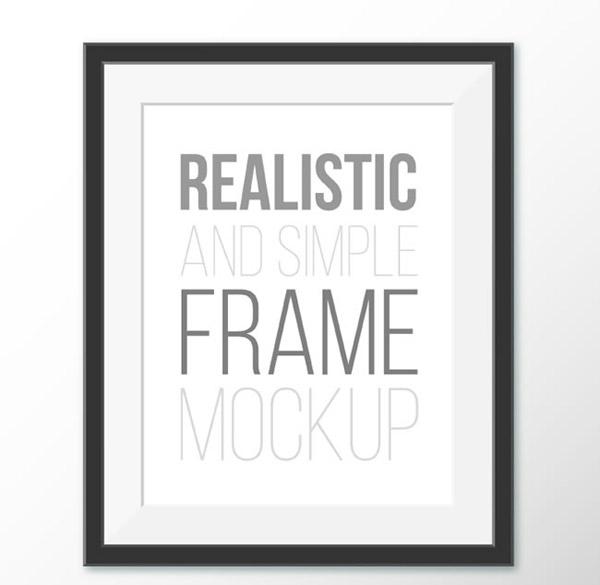 Black photo frame design vector