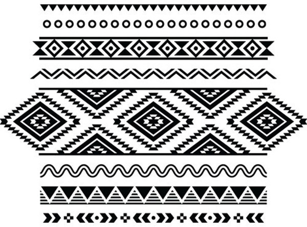 Classical ethnic patterns vector