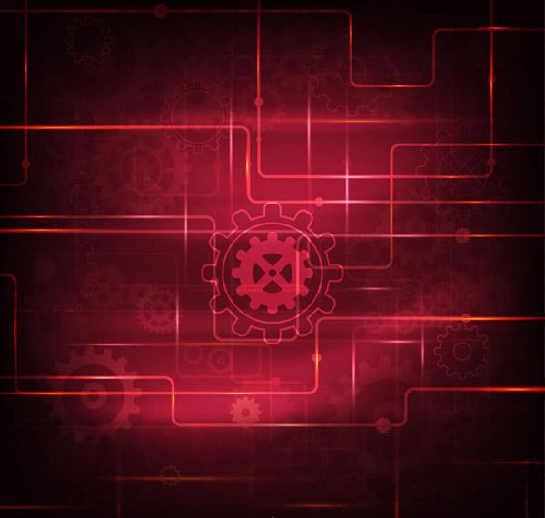 Gear technology background vector