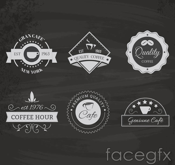 Premium coffee labels vector