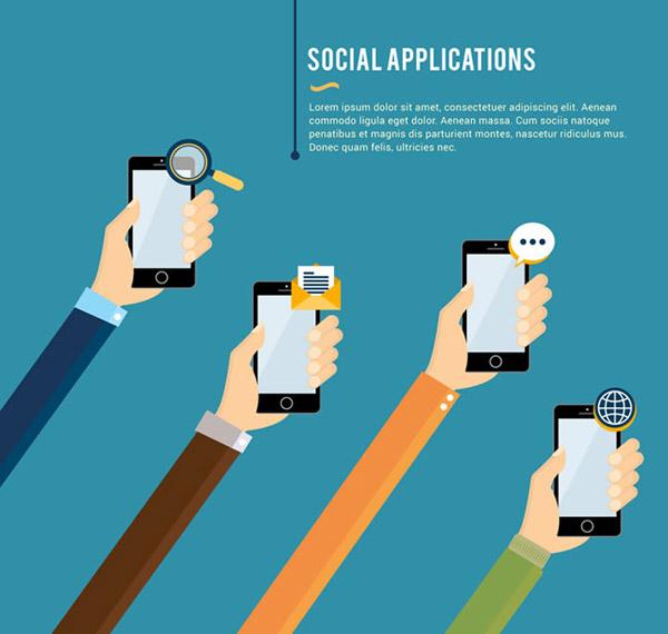 Social living illustration vector