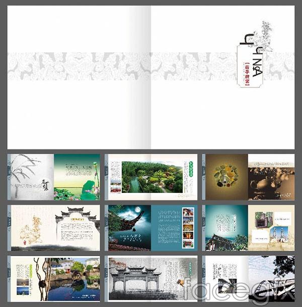 Zhuangzi's hometown pictures vector