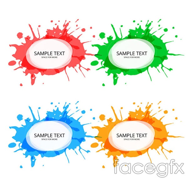 Color ink tags vector