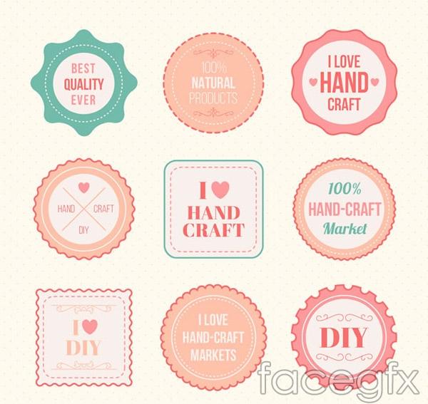 Handmade labels vector