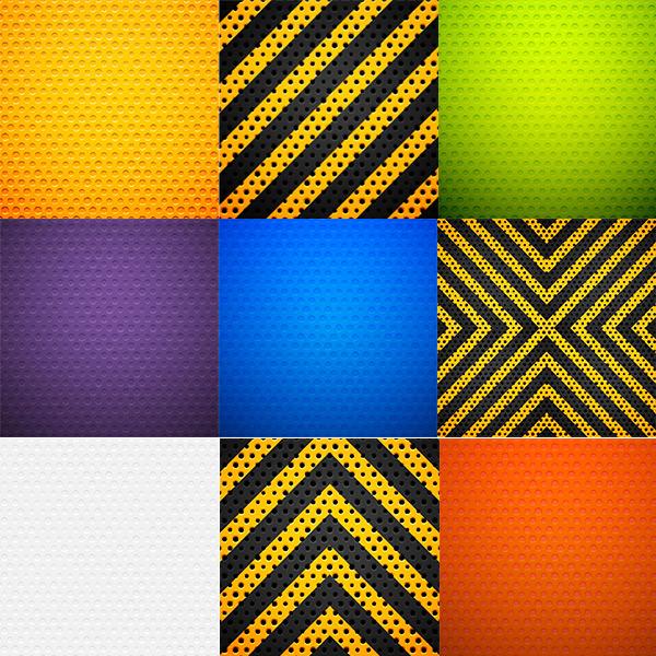 Metallic polka dot background vector