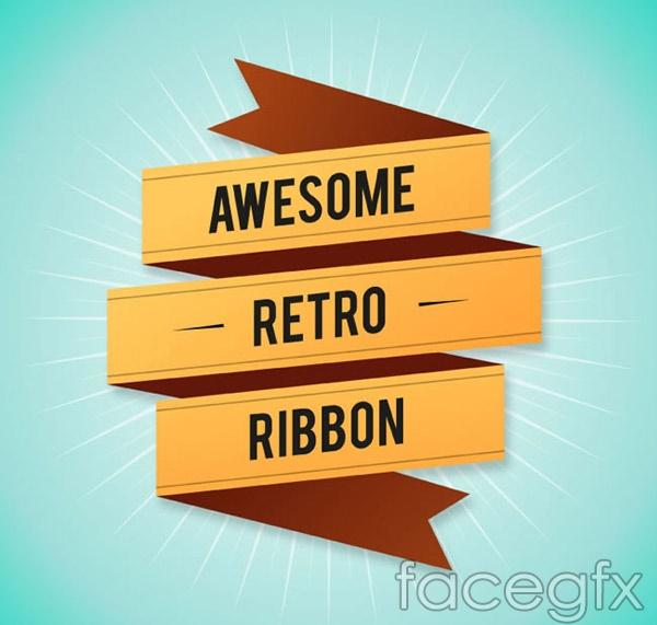 Origami Ribbon designs vector