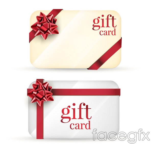 Round gift card vector