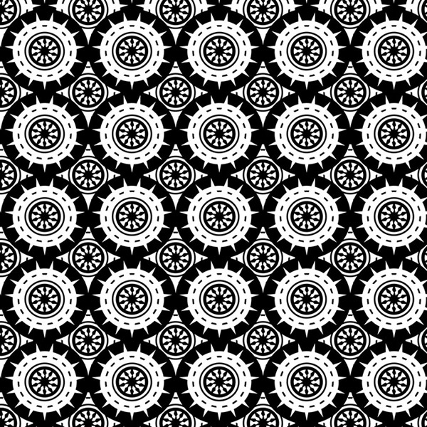 Black and white circular background vector
