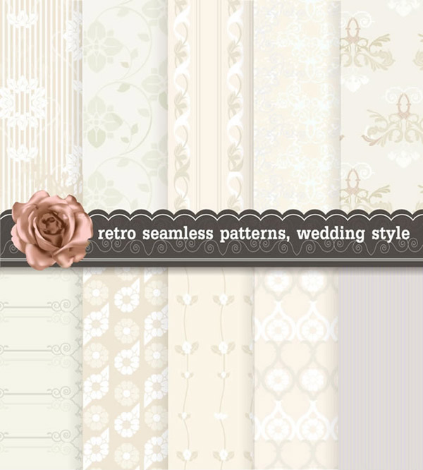 Vintage wedding background vector