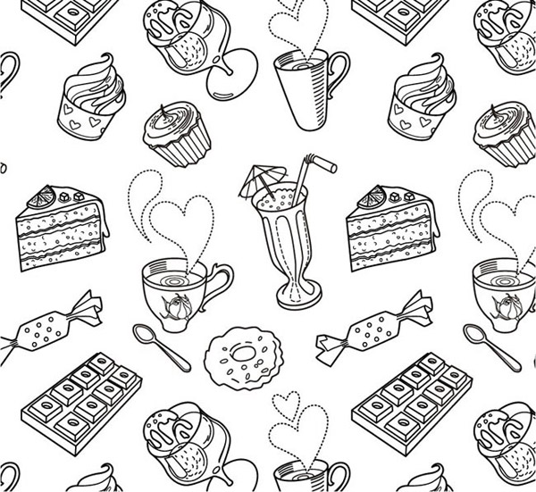 Afternoon tea background vector