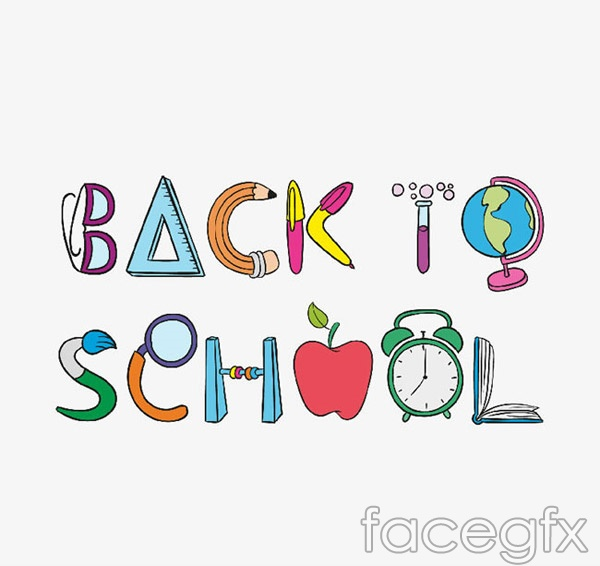 Back to school art character vector