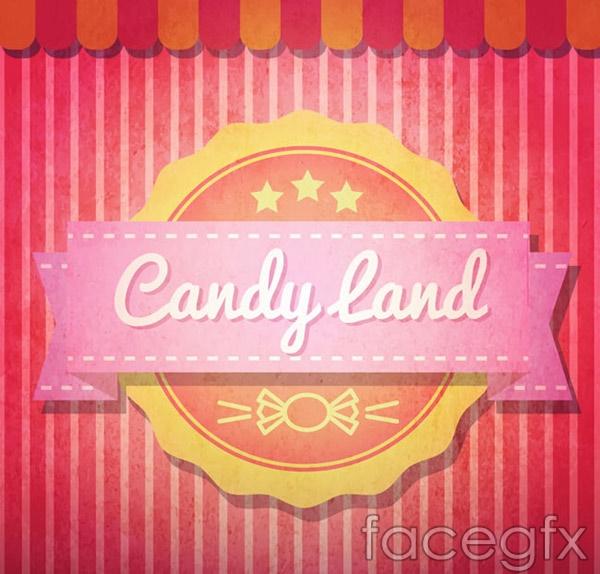 Candy world tab vector
