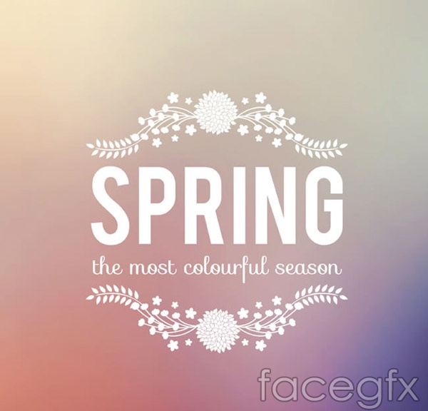Spring word art posters vector
