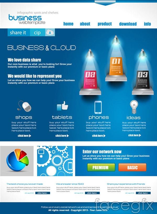 Web business element theme vector