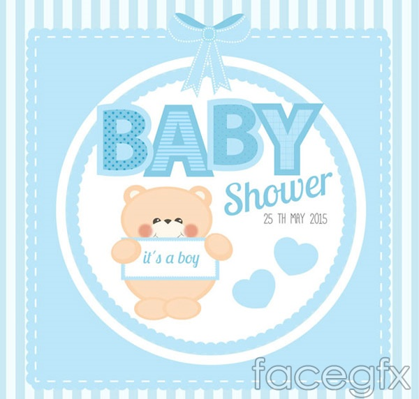 Welcome baby party card vector
