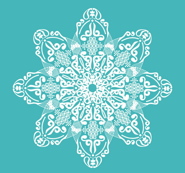 The Green-and-white pattern vector
