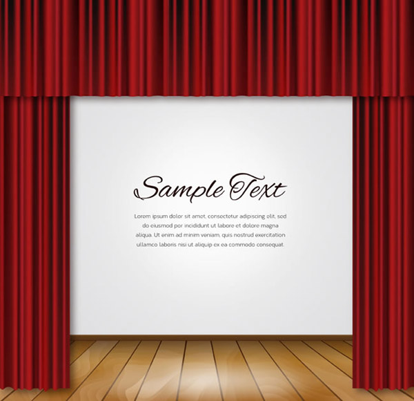 Curtains and flooring background vector