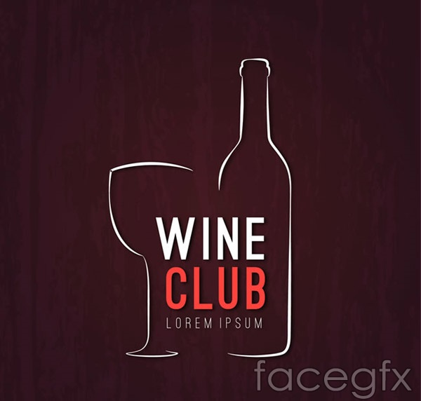 Wine Club poster vector