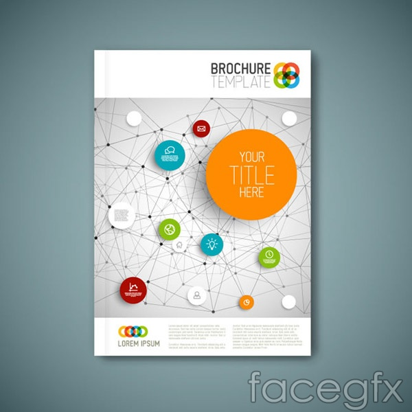 Business brochure cover vector