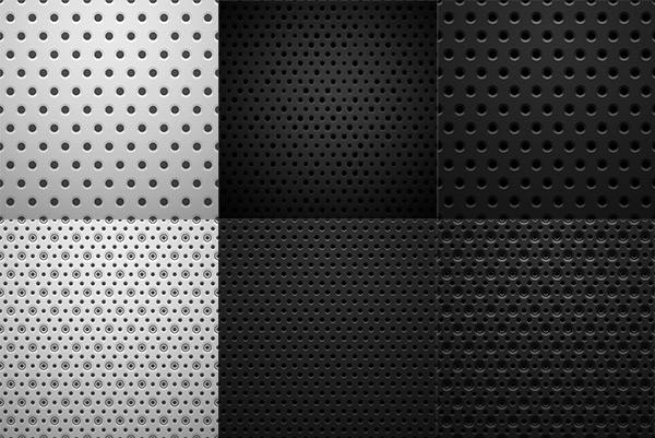 Metal dot background vector