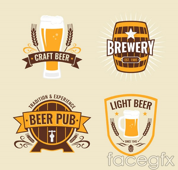 Beer labels of an element vector