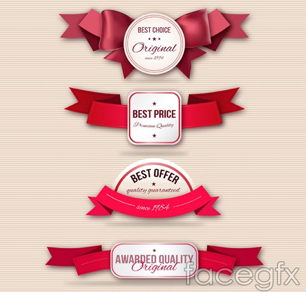Fashion promotional labels vector