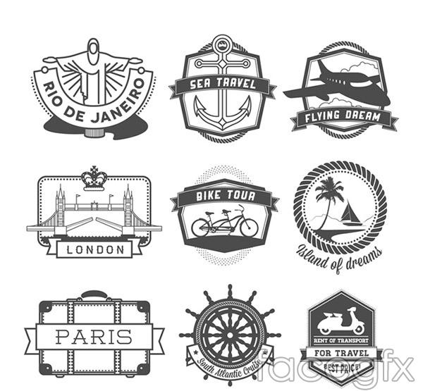 Travel tags vectors