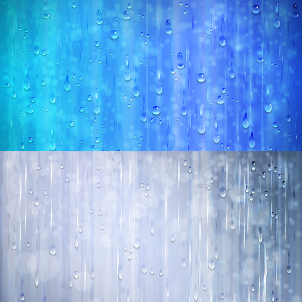 Beautiful water drops background vector