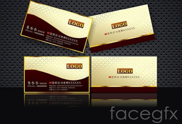 High-end business card template vector