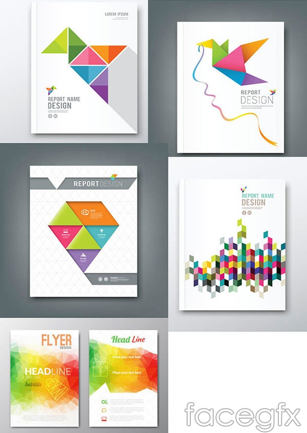 Mosaic book cover vector
