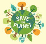 Protect the Earth illustration vector