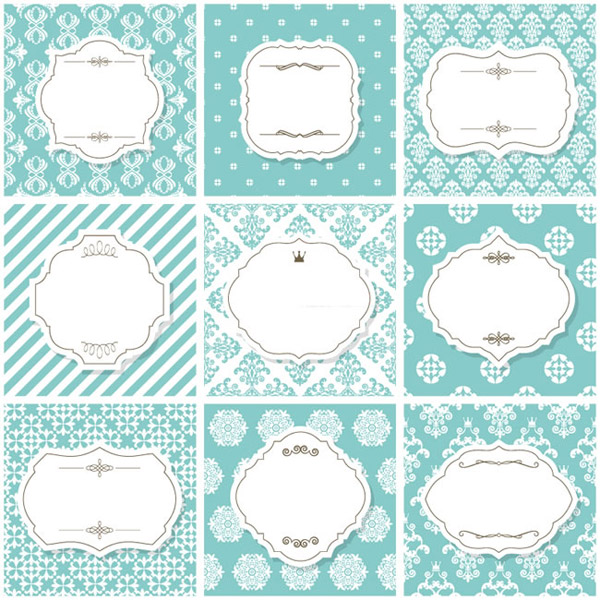 Blank label pattern background vector