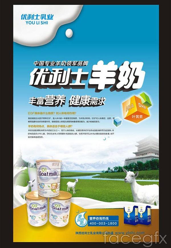 Goat's milk poster vector