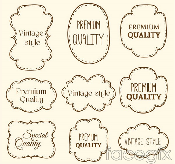 Hand-painted dash quality label vector