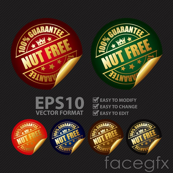 High quality sale stickers vector