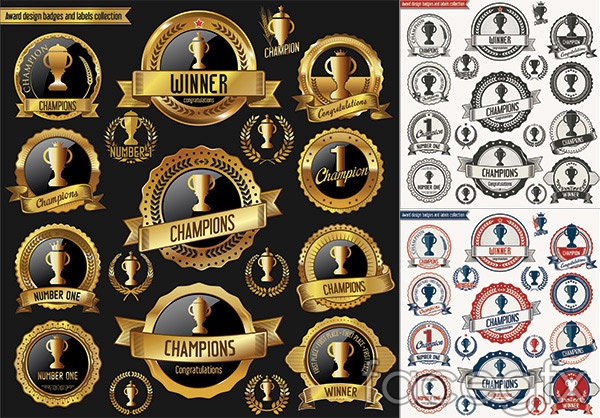 High quality trophy tag vector