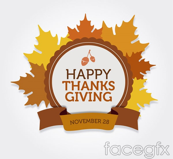 Thanksgiving Maple Leaf Chinese Restaurant tab vector